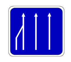 Fahrstreifenreduzierungen
